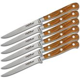 Maserin 2411/OL Coltello Maniago 6 Piece Steak Knife Set, Olive Wood Handles