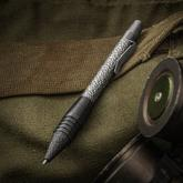 Matthew Martin Custom 400ZrTiT Textured Titanium and Zirconium Click Pen, 5 inch Overall, KnifeCenter Exclusive
