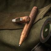 Matthew Martin Custom 500CuT Textured Copper Screw Cap Tactical Pen, 5 inch Overall, KnifeCenter Exclusive