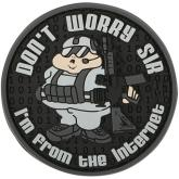Maxpedition FTFKS PVC Don't Worry Sir Patch, SWAT