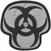 Maxpedition PVC Biohazard Skull Patch, SWAT