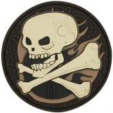 Maxpedition SKULA PVC Skull Patch, Arid