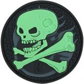 Maxpedition SKULZ PVC Skull Patch, Glow