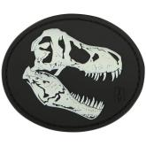 Maxpedition TREXZ PVC T-Rex Skull Patch, Glow