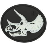 Maxpedition TRYSZ PVC Triceratops Skull Patch, Glow