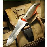 Mercworx Golgotha Combat Fixed 4.5 inch Satin 154CM Plain Blade, OD Green Micarta Handles, Kydex Sheath