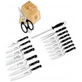 Messermeister Meridian Elite 17 Piece Premier Block Set with Elite Steak Knives