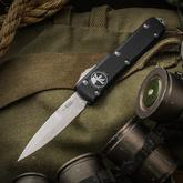 Microtech BLADE Show 2017 Special Ultratech AUTO OTF 3.46 inch Elmax Double Edge Bayonet Blade, Aluminum Handles