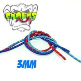 MonkeyfingeR Design 3 mm MonkeyCHORDS - Blue, Blue, Red
