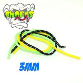 MonkeyfingeR Design 3 mm MonkeyCHORDS - Black, Yellow, Green