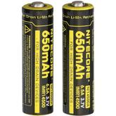 NITECORE NL147 14500 Rechargeable Lithium Battery, 2-Pack
