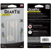Nite Ize Gear Tie Mountable Twist Ties 2 inch White (GTU2-02-2R7)
