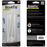 Nite Ize Gear Tie Mountable Twist Ties 4 inch White (GTU4-02-2R7)