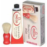 Omega Shaving Cream and Brush Shave Set