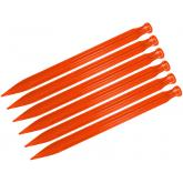 Ontario Jericho Orange 9 inch Vampyr Tent Stakes, 4 Pack