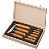 Opinel 10-Piece Carbon Steel Assortment in Display Case, Beechwood Handles