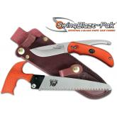 Outdoor Edge SwingBlaze-Pak, Rotating 2-Blade Knife/Saw Combo, Orange Handles