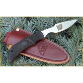 Outdoor Edge Kodi-Caper Fixed 2 1/2 inch Plain Edge Blade, Leather Sheath