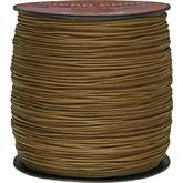 550 Micro Cord, Coyote Tan, Nylon Braided, 1,000 Feet x 1.18 mm