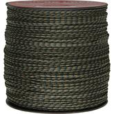 550 Micro Cord, Woodland Camo, Nylon Braided, 1,000 Feet x 1.18 mm