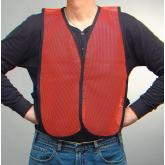 PhysiciansCare Brand Safety Vest, Lightweight, Orange Mesh