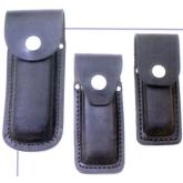 Queen Black Leather Sheath for Medium Folders, Fits 3 3/4 inch to 4 inch