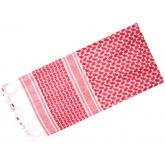 Red Rock Outdoor Gear Shemagh Head Wrap, White/Red