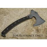 RMJ Tactical Berserker Tomahawk 15 inch Overall, Tan G10 Handle, Kydex Sheath with MOC Straps
