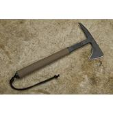 RMJ Tactical S13 Shrike Tomahawk 13.5 inch Overall, Flat Dark Earth G10 Handle, Kydex Sheath with Low Ride Straps