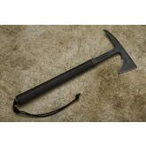 RMJ Tactical Shrike Tomahawk 15.5 inch Overall, Black G10 Handle, Kydex Sheath with Low Ride Straps