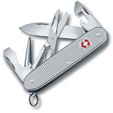 Victorinox Swiss Army Pioneer X Multi-Tool, 3.7 inch Silver Alox Aluminum Handles, Engravable
