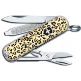 Victorinox Swiss Army Classic SD Leopard Fashion Print Multi-Tool, 2-1/4 inch Closed