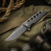 SharpByDesign Custom Mini Typhoon Flipper 3.5 inch CPM-S90V Clip Point Blade, 3D Machined Titanium Handles with Milled Holes