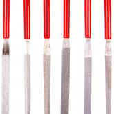 EZE-LAP Slitting - Fine Needle File - Red Handle