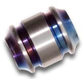 Smock Knives Titanium Lanyard Bead, Two-Tone Multi-Color Anodized, 0.75 inch Overall