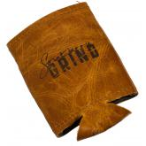 Southern Grind Leather Koozie
