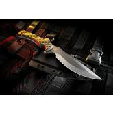 Spartan Blades Nyx Combat Knife 5-3/8 inch S35VN FDE Blade, Green Micarta Handles, Coyote Kydex Sheath