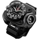 SureFire 2211 Luminox WristLight Rechargeable Variable-Output LED WristLight + Watch, 330 Max Lumens (2211-A-BK-LMX)