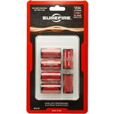 SureFire SF6-BC 6 Pack SureFire 123A Lithium Batteries