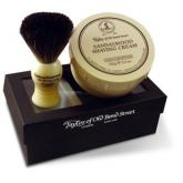 Taylor of Old Bond Street Pure Badger Brush & Sandalwood Bowl Gift Box Shave Set