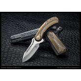 Todd Begg Custom Titanium 1911 Field Marshal Grips, Bronze, Gold and Silver