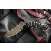 TOPS Knives  inch10/27 inch Fixed 3-1/2 inch Carbon Steel Sawback Blade, Black G10 Handles, Kydex Sheath