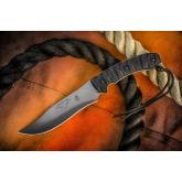 TOPS Knives Longhorn Bowie 6-3/4 inch 1095 Carbon Blade, Rocky Mountain Micarta Handles, Nylon Sheath