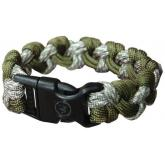 UST Ultimate Survival 550 Paracord Survival Bracelet with Basic Clasp, Camo and OD Green (20-295-354-E3E6)
