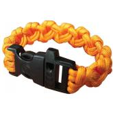UST Ultimate Survival 550 Paracord Survival Bracelet with Whistle Clasp, Orange (20-295-355-N18)