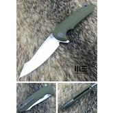 We Knife Company 617D Flipper 3.94 inch D2 Two-Tone Blade, OD Green G10 Handles