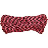 550 Paracord, Rosa Noche (Pink and Black), Nylon Braided, 100 Feet