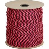 550 Paracord, Rosa Noche (Pink and Black), Nylon Braided, 1000 Foot Spool
