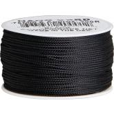 550 Nano Cord, Black, Nylon Braided, 300 Feet x 0.75 mm