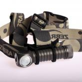 ZebraLight H600F Mk II Floody 18650 Headlamp, XM-L2 Cool White LED, 1038 Max Lumens
